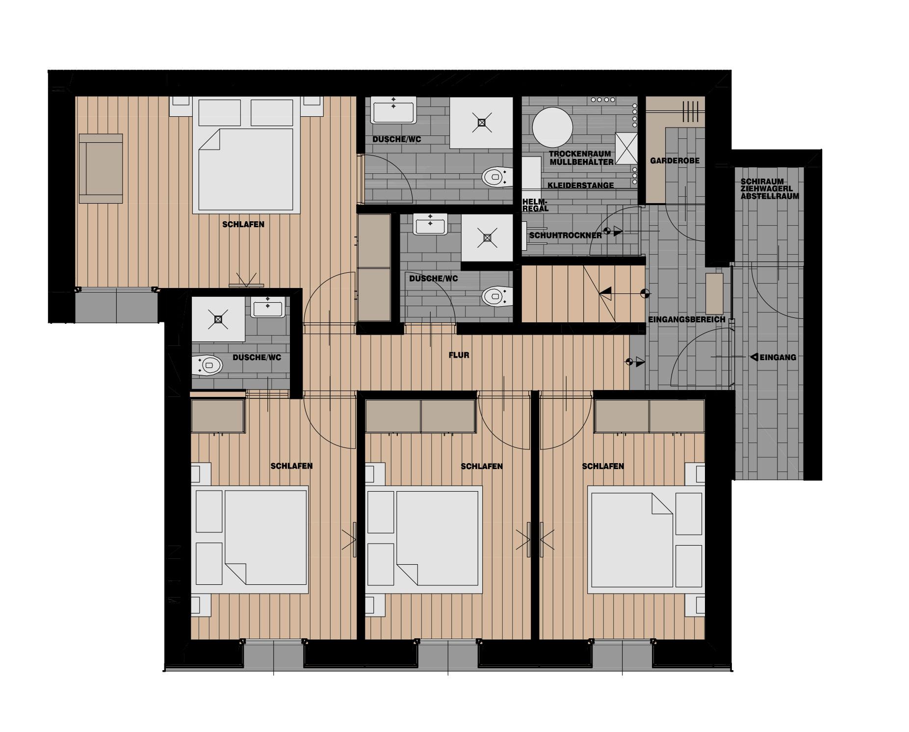 ausstattung auf da leitn 8. Black Bedroom Furniture Sets. Home Design Ideas