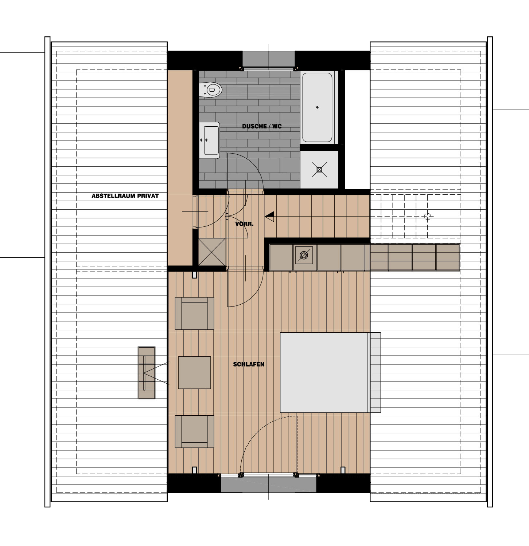Imagebild Dachgeschoß-Grundriss